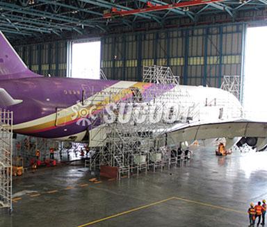 Thai Airline A380 Aircraft maintenance