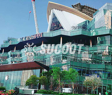 Thailand Iconsiam Department Store  pleated glass façade