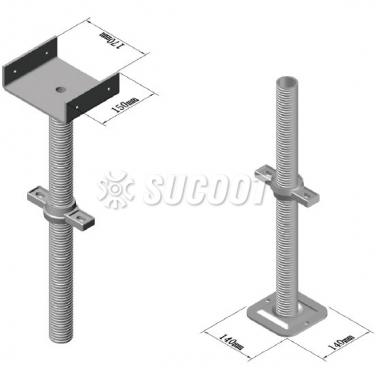 Scaffolding Screw Jack and Jack Base