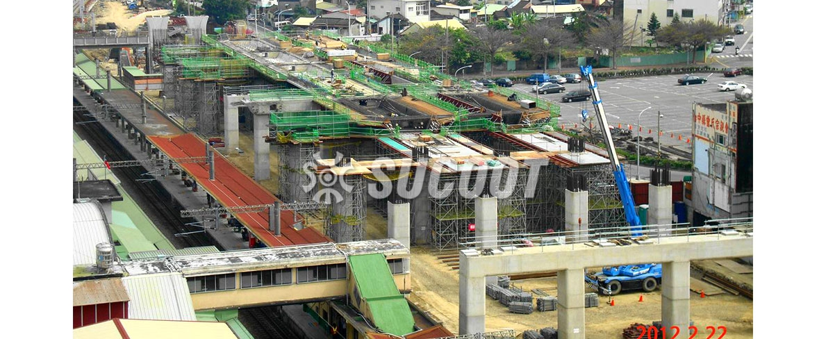 Rail Bridge Projects:Taiwan Railway Taichung Railway Elevation( From Fengyuan to Toujiacuo)
