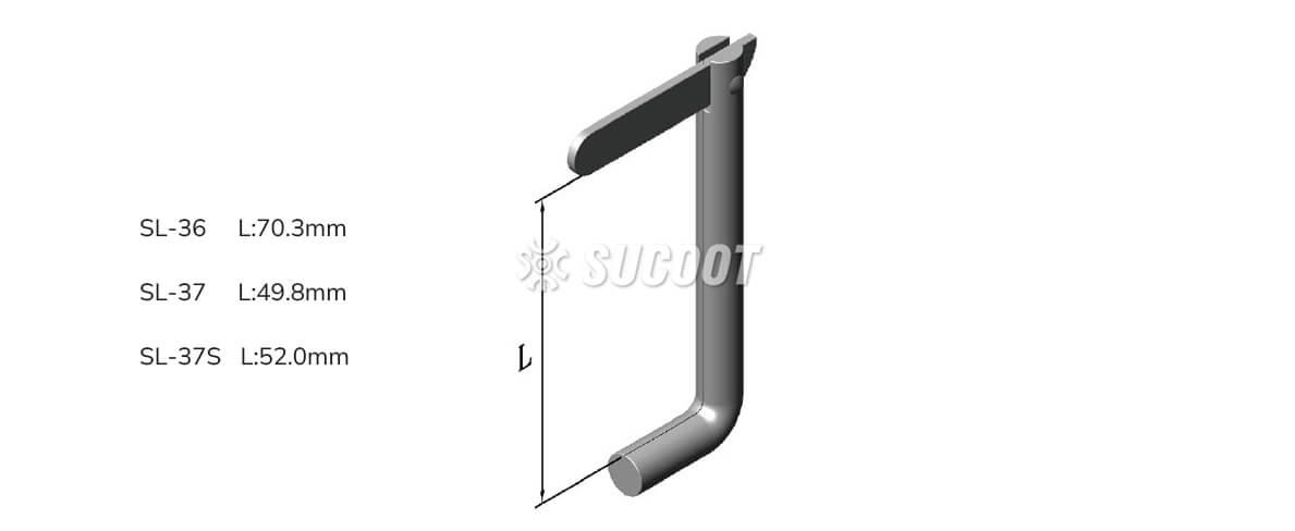 SL-36 L:70.3mm SL-37 L:49.8mm SL-37S L:52.0mm